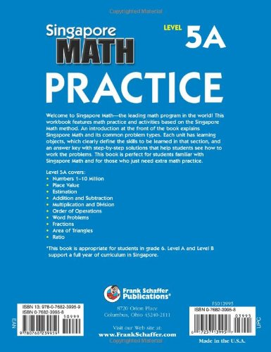 Singapore Math Practice, Level 5A, Grade 6: Frank Schaffer ...
