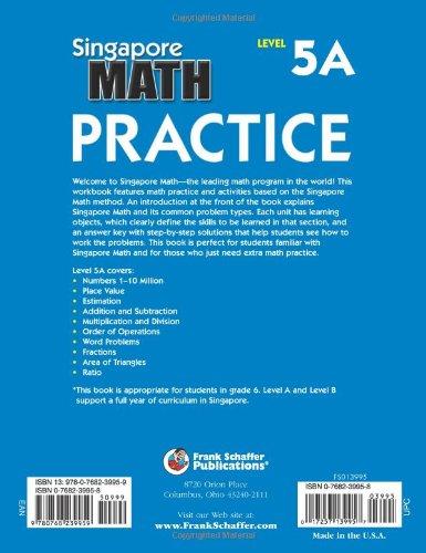 Singapore math practice level 5a grade 6 frank schaffer singapore math practice level 5a grade 6 frank schaffer publications 0017257139957 amazon books fandeluxe Choice Image
