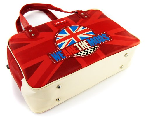 SKYLINE Retro Tasche Sporttasche Reisetasche Weekend Bag WE ARE THE MODS Rot