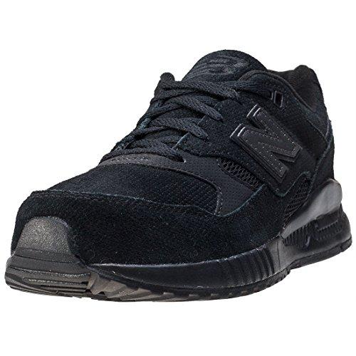 New De Balance Renda Preta Crianças Preto 530 Formadores Sapatos 4X4nxTwrq