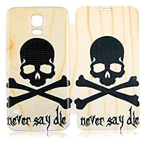 Never Say Die PU Leather Full Body Case for Galaxy S5 I9600