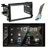 EnrockAudio Kenwood DDX26BT 6.2″ in-Dash DVD Bluetooth Double-DIN Sirius-XM-Ready Car Audio Receiver, Scosche FD1426B Dash Kit Install Kit, w/ FD23B Radio Wire Harness (2004-Up Select Ford)