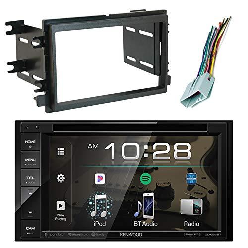 EnrockAudio Kenwood DDX26BT 6.2″ in-Dash DVD Bluetooth Double-DIN Sirius-XM-Ready Car Audio Receiver, Scosche FD1426B Dash Kit Install Kit, w/ FD23B Radio Wire Harness (2004-Up Select Ford)