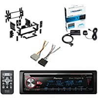 Pioneer CD Bluetooth Receiver W/Enhanced Audio Functions W/ SiriusXM Satellite Radio Vehicle Tuner Kit, Metra Radio Installation Multi-Kit & Scosche Radio Wiring Harness Ford Power/Speaker Connectors