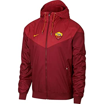 4d6d6b93d9 Nike 2018-2019 AS Roma Authentic Windrunner Jacket (Team Red)   Amazon.co.uk  Sports   Outdoors