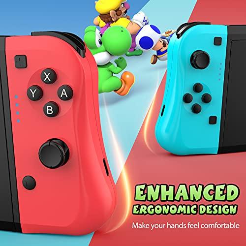Manette sans Fil pour Switch, Manette pour Switch Pro/Switch Lite, Lot de 2 sans fil Bluetooth/Turbo double vibration/Manette de jeu programmable