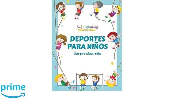 Deportes para niños : Libro para colorear niños (Spanish Edition ...