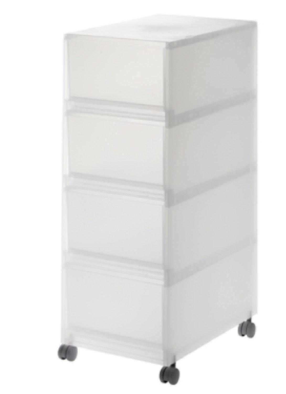 Amazon|無印良品 PPケース引出式 キャスター付 幅26×奥行37cm (深型4段)|収納ケース・ボックス オンライン通販