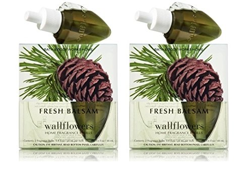 Fresh Balsam Wallflowers - FOUR Refill Bulbs - Bath & Body Works