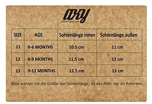 axy Baby Stoff Krabbelschuhe Babyschuhe 0 bis 12 Monate - Little Princess - Schwarz BS4-1