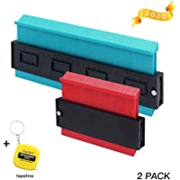 2 Pack Contour Gauge Duplicator Woodworking Ruler Kit Profile Copy Irregular Shapes Marking Instant Scribe Tool for Corners Outline Angles Edge Curves, 5 in +10 in + Tape Measure