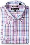 Stacy Adams Mens Big and Tall Bold Plaid Classic Fit Dress Shirt