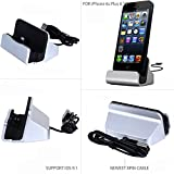 iPhone 7 Charger Dock Station, Yeworth Lightning Charger Dock, Desktop Charging Dock Station Cradle for iPhone 7 / 7 Plus iPhone 6 / 6 Plus iPhone 5 / 5S / 5C and iPod Touch 5 Compact