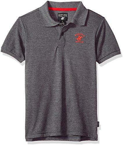 lub Little Boys' Short Sleeve Polo, Charcoal Heather Pique, 5/6 (Club Pique Polo Shirt)