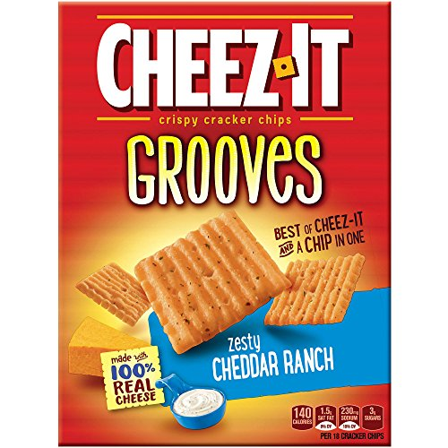 PACK OF 13 - Cheez-It Grooves Zesty Cheddar Ranch Crispy Cracker Chips, 9 oz by Cheez-It (Image #1)