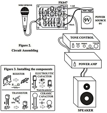 Simple Dynamic Microphone 2 transistor Preamplifier Kit embled kit on transistor phaser schematic, transistor tremolo schematic, transistor amplifier schematic, transistor amp schematic, transistor design, transistor flanger schematic, transistor switch schematic, transistor radio schematic,