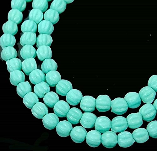 ShopForAllYou Decoration Beads 50 Czech Glass Melon Round Beads 3mm - Matte - - Melon Beads Silver