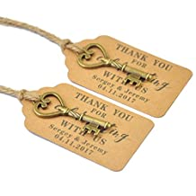 Wedding Tags , Antique Key Gift Tags, Wedding Favor Tags, Set of 100pcs, Place Cards, Escort Card Vintage Keys
