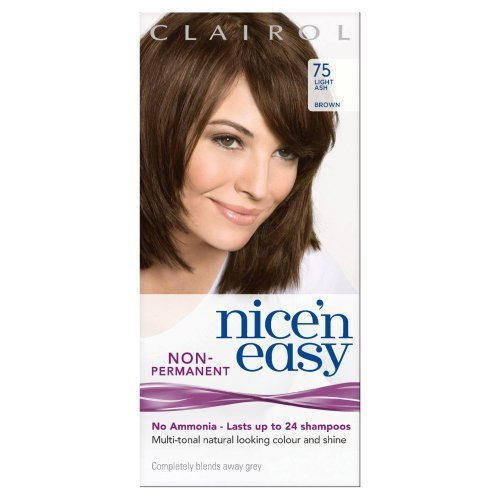 Clairol Nice'n Easy By Lasting Colour Non Permanent Hair Colour - 75 Light Ash Brown by Procter & Gamble
