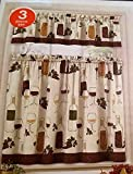 wine and grape kitchen curtains - Home Fashions Wine Bottles Grapes Kitchen Window Curtain Set 3 Pc
