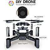 Maxxrace STEM Rc Toys DIY Mini Racing Drone Headless Mode 2.4Ghz Nano LED RC Quadcopter Altitude Hold Good Beginners (DIY)