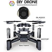 Maxxrace STEM Rc toys DIY Mini Racing Drone Headless Mode 2.4Ghz Nano LED RC Quadcopter Altitude Hold Good for beginners (DIY)