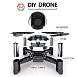 Maxxrace STEM Rc toys DIY Mini Racing Drone Headless Mode 2.4Ghz Nano LED RC Quadcopter Altitude Hold Good for beginners (DIY)