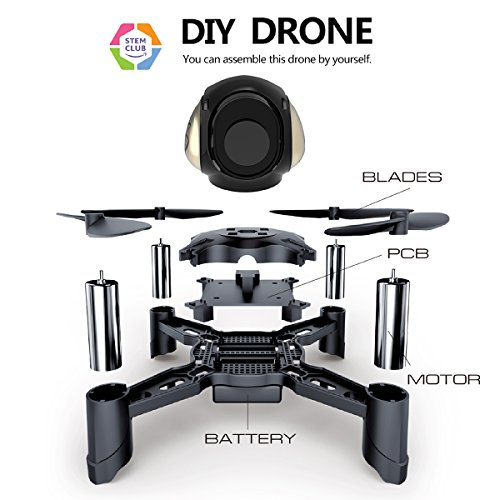Great Assembly Rc - Maxxrace STEM Rc Toys DIY Mini Racing Drone Headless Mode 2.4Ghz Nano LED RC Quadcopter Altitude Hold Good Beginners (DIY)