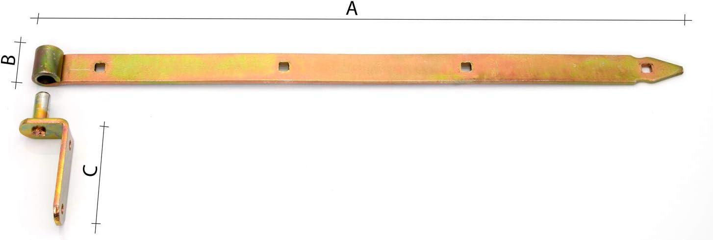 Ladenband Set mit Kloben 300 x 30 x /Ø13 gelb Ladenb/änder Torband T/ürband T/ürb/änder NW-ZP300