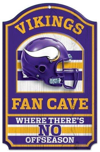 (WinCraft NFL Minnesota Vikings 05504013 Wood Sign, 11