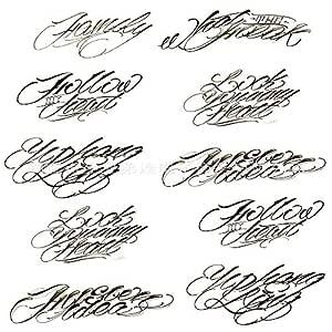 9pcs pegatinas de tatuaje a prueba de agua pequeñas pegatinas de ...