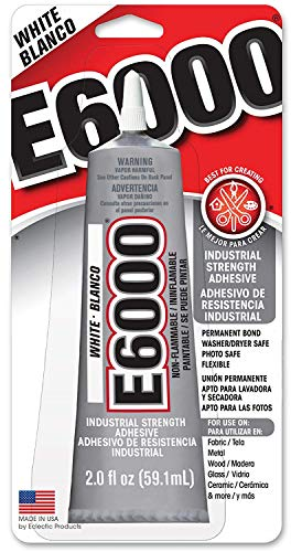 E6000 237040 2-Ounce Industrial Strength Craft Adhesive, White Blanco - 2 Pack