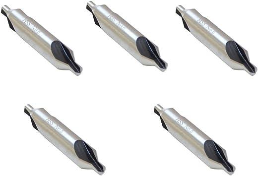 5PCS HSS Centre Drill 60 Degré fin double /& Fraise haute vitesse acier Set C6