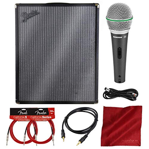 (Fender Rumble 200 Bass Combo Amplifier w/Microphone and Bundle)