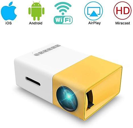 GBYNB Tamaño del Proyector De Proyección del Mini Proyector Portátil: 24 Pulgadas -60 Pulgadas (cm) Soporte para Proyector De Películas para El Hogar 1080P Fire TV Stick VGA AV USB: Amazon.es: Hogar