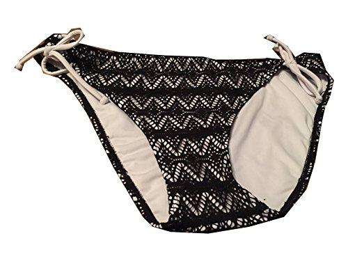Hula Honey Side-Tie Hipster Bikini Bottoms Black M