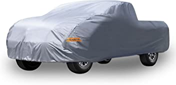 YITAMOTOR Universal Fit Car Cover All Weather Breathable Full Waterproof Antiscratch Windproof Heat Sun Snow Rain Dust Resistant with Lock Outdoor Indoor Fits up to 224 Inches, PEVA, Dark Blue