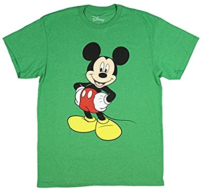Disney Men's Mickey Wash Short Sleeve T-Shirt
