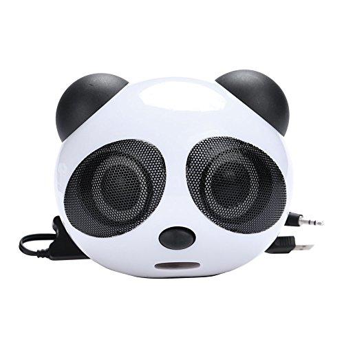 Duoying Computer Speaker Loudspeaker Panda Style 3.5mm 2.1 M