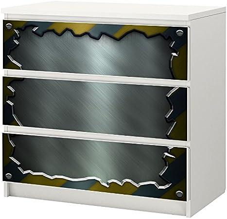 Cassettiera Con Specchio Ikea.Kom1021 Adesivi In Eta Specchio Adesivo Per Ikea Malm Como Mobili