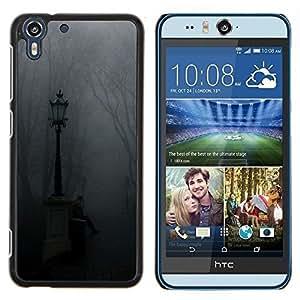 Stuss Case / Funda Carcasa protectora - Lámpara Niebla Parque Cementerio de Otoño - HTC Desire Eye M910x