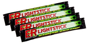 12 Hour Green Lightsticks (4 Pack)