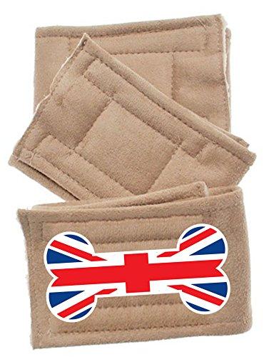 Pet Flys British Bone Flag Peter Pads (3 Pack), X-Small