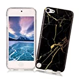 iPhone 5/5S/SE Case XiaoXiMi Marble Texture Cover Soft Flexible TPU Silicone Shell Ultra Slim Lightweight Phone Skin Protective Back Cover Antiscratch Antishock Bumper for iPhone 5/5S/SE - Golden Crack