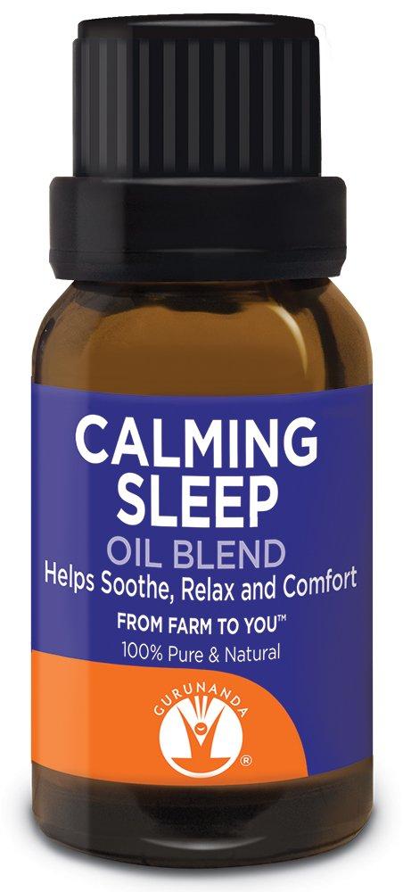 GuruNanda Calming Sleep- 100% Pure Essential Oil Blend, Therapeutic Grade, Includes Lavender, Lavandin, Wintergreen, Frankincense, Amyris, Lemongrass, Lemon, Orange + more Essential Oils- 15ml