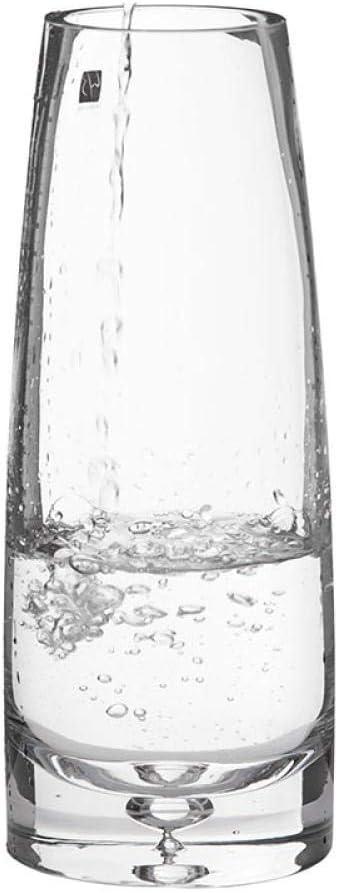 KOONNG Jarrón De Decoración del Hogar Florero Ovalado Decoración De La Sala Fondo De Cristal Burbuja Ovalada Florero De Flores De Lirio Transparente