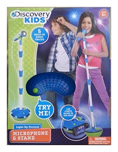Discovery Kids Light-Up Musical Microphone and Stand by Discovery Kids (Image #1)