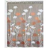Burnt Orange Shower Curtain InterDesign Daizy Shower Curtain, Mushroom and Spice, 72 x 72-Inch