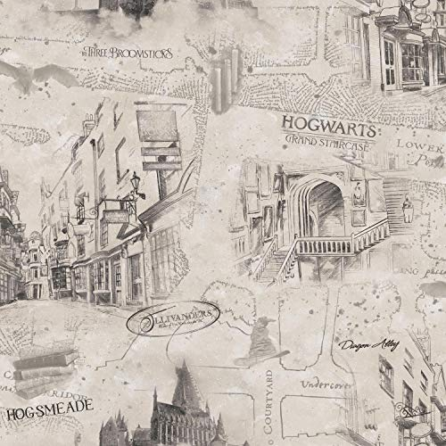 RoomMates Harry Potter Map Peel and Stick -