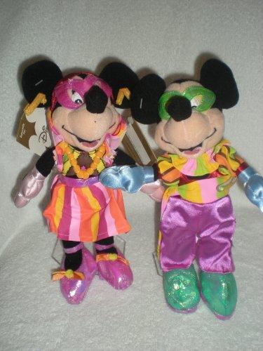 Disney Mardi Gras Mickey and Minnie Bean Bag -